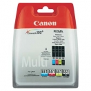 Canon originální ink CLI551, CMYK, 4×7ml, 6509B008, Canon PIXMA iP7250, MG5450, MG6351