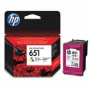HP originální ink C2P11AE, HP 651, tri-colour, 300str., HP DeskJet IA 5645, 5575, Officejet 202,252 Mobile