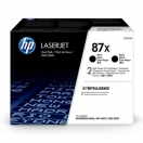 HP originální toner CF287XD, black, 2*18000str., 87X 2, HP LaserJet Enterprise M506dh,M506dn,M506n,M506x,MFP, Dual pack 2*2,7 kg