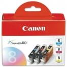 Náplň Canon CLI8CMY - cyan/magenta/yellow, azurová, purpurová, žlutá tisková kazeta