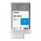 Náplň Canon PFI107C, cyan, azurová inkoustová náplň