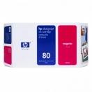Náplň HP C4874A, HP č.80 - magenta, purpurová tisková kazeta