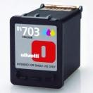 Náplň Olivetti B0632 - cyan/magenta/yellow, azurová/purpurová/žlutá inkoustová kazeta