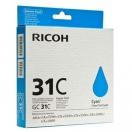 Ricoh originální gelová náplň 405689, cyan, typ GC 31C, Ricoh GXe2600/GXe3000N/GXe3300N/GXe3350N