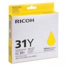 Ricoh originální gelová náplň 405691, yellow, Typ GC 31Y, Ricoh GXe2600/GXe3000N/GXe3300N/GXe33